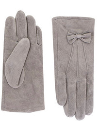 Dorothy Perkins Grey Suede Bow Gloves