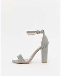Glamorous Barely There Grey Block
