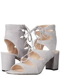 b31436044a3 Women s Grey Suede Heeled Sandals by Nine West