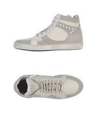 Grey Suede High Top Sneakers