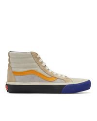 Vans Blue And Orange Reissue Vi Sk8 Hi Sneakers