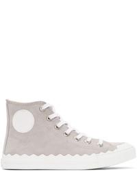 Chloe grey kyle high top sneakers medium 3656803