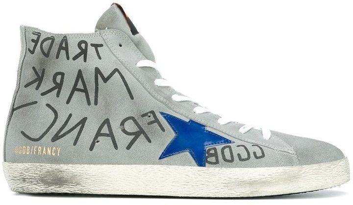 62227bf7f3ad2 ... Golden Goose Deluxe Brand Francy Hi Top Sneakers
