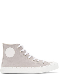 Grey kyle high top sneakers medium 3656803