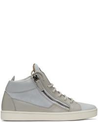 Grey suede london high top sneakers medium 1187960