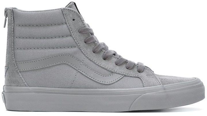69ca9088b1 ... Grey Suede High Top Sneakers Vans Monochrome Pack Hi Tops