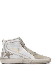 White and grey slide high top sneakers medium 5081459