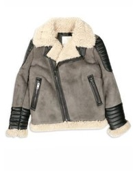 Diesel Little Boys Boys Jiento Faux Fur Trim Moto Jacket