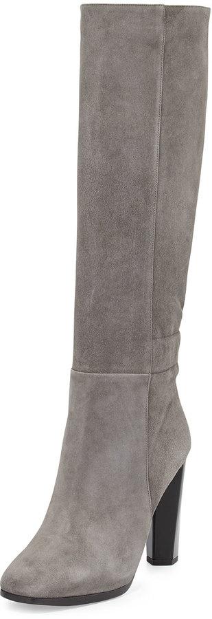 Diane von Furstenberg Pagri Suede Over The Knee Boot Gray | Where ...