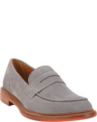 Grey Suede Loafers