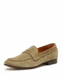 Aiden suede penny loafer gray medium 3648206
