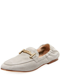 Tod's Double T Scrunched Suede Loafer