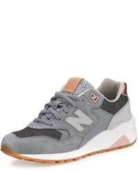 580 suede low top sneakers gray medium 692987