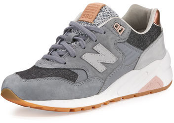 sports shoes 68d4d 977d8 $180, New Balance 580 Suede Low Top Sneakers Gray