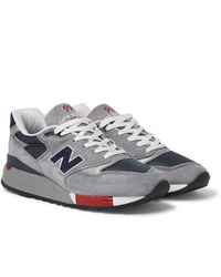 New Balance 998 Suede And Mesh Sneakers