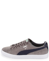 ... Puma Clyde Bc Suede Low Top Sneaker Gray ... db962b822