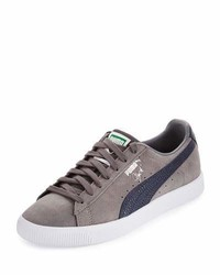 ... Puma Clyde Bc Suede Low Top Sneaker Gray 7afade92a