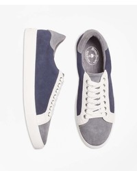 Brooks Brothers Color Block Suede Sneakers