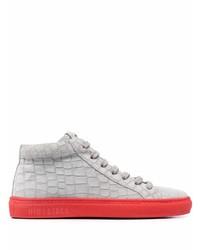 Hide&Jack Croc Effect Leather Sneakers
