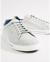 Ted Baker Eeril Trainers In White Texture
