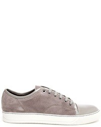 Lanvin Suede And Patent Leather Trainers