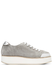 Flamingos Ssense Grey Tatum Suede Sneakers