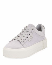 Tyler 2 suede platform sneaker light gray medium 3648925