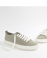 ... ASOS DESIGN Wide Fit Trainers In Grey Faux Suede With Crepe Look Sole 0edecaa16
