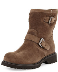 Hayes fur lined buckled mid calf boot stone medium 3650830