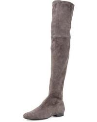 Fissaj stretch suede over the knee boot medium 342055