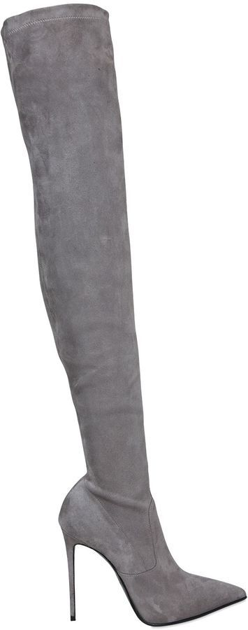 Le Silla 110mm Stretch Suede Over The Knee Boots
