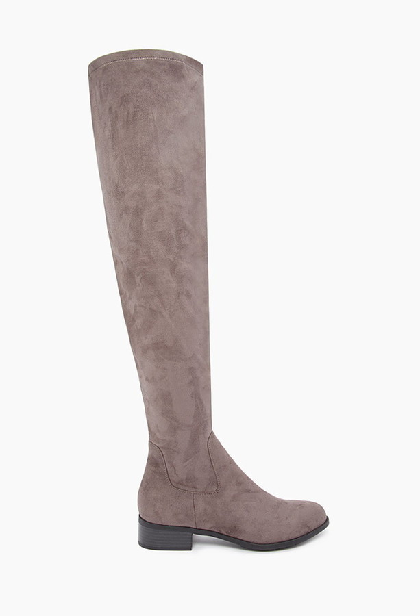 1fe56545bf8 ... Forever 21 Over The Knee Faux Suede Boots ...