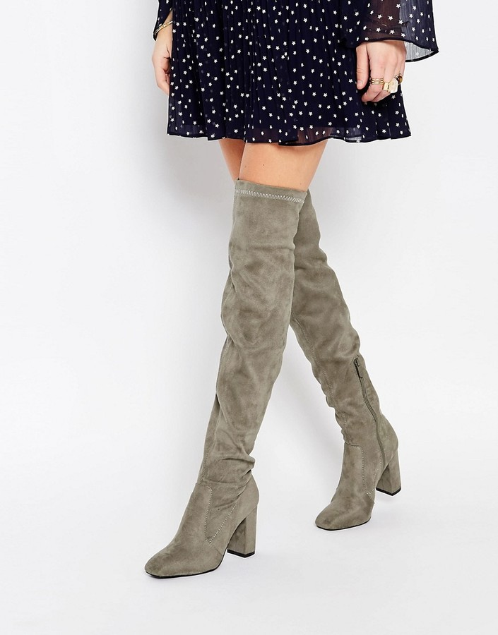 4d60d9f800d ... Public Desire Natalia Gray Over The Knee Boot ...