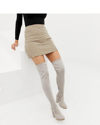 bc227d3b047 ASOS DESIGN Wide Fit Kassidy Heeled Over The Knee Boots