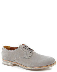 Grey Suede Oxford Shoes