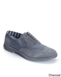 Overstock Hey Dude Vinci Suede Canvas Oxford Shoes