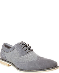 Steve Madden Samson 2 Oxford Grey Suede Lace Up Shoes