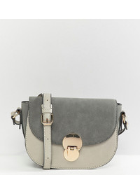 Accessorize Tessa Grey Lock Cross Body Saddle Bag
