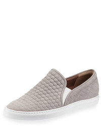 Tabitha Simmons Huntington Quilted Suede Skate Shoe Gray