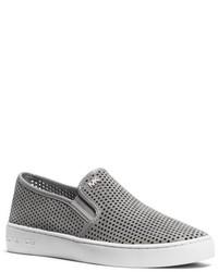 Michael Kors Michl Kors Brett Mesh Suede Slip On Sneaker