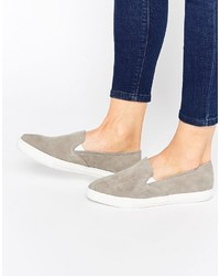Warehouse Point Suede Slip On Sneakers