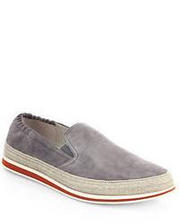 735003de0350 Prada Slip On Sneakers Grey Out of stock · Prada Suede Espadrilles