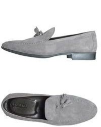 Grey Suede Tassel Loafers