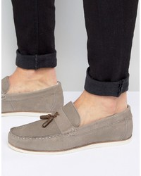 Tassel loafers in gray suede medium 1155726