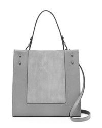 Grey Suede Tote Bag