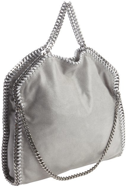 ... Grey Suede Tote Bags Stella McCartney Black Faux Suede Falab Braided  Chain Detail Shoulder Bag d7247ce59f397