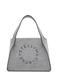Stella McCartney Grey Felt Logo Tote