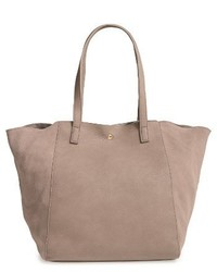 Norah slouchy faux leather suede tote grey medium 1150803
