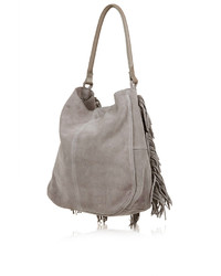 Topshop Suede Tassel Hobo Bag | Where to buy & how to wear
