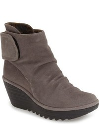 Yegi slouchy platform wedge bootie medium 806716
